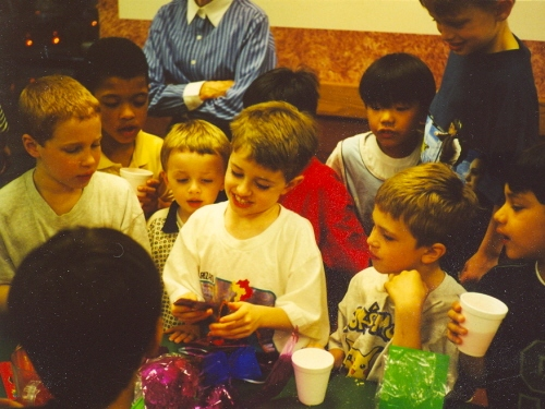 Logan, Rustin, Liam, Conor, Max, Spencer and more at Conor's 9th birthday party