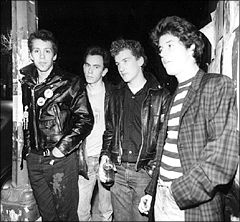 Teen Idles: Nathan, Jeff, Ian, Geordie in 1979 (photo: Lucian Perkins)